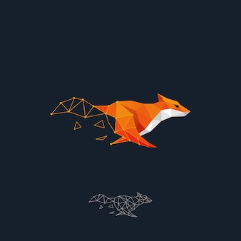 Running fox color design concept