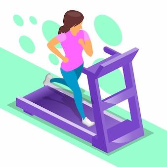 Running  girl treadmill