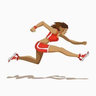 Running hurdles or sprinter illustration