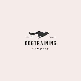 Running jumping dog logo