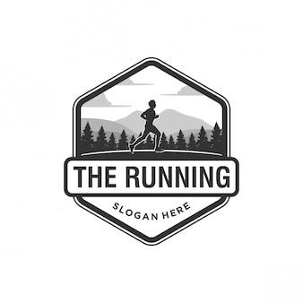 The running logo