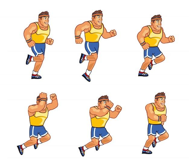 Запуск персонажа man game running sprite