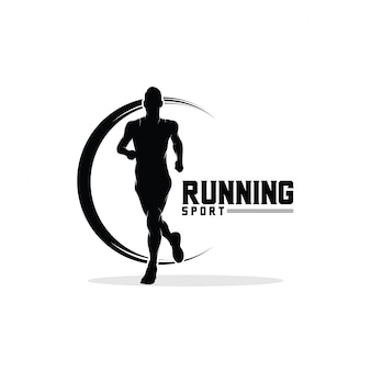 Running man logo design inspiration