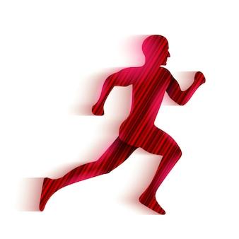 Running man silhouette logo.
