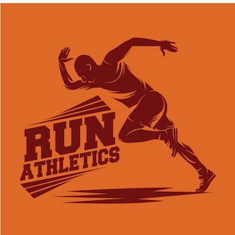 Running and marathon logo
