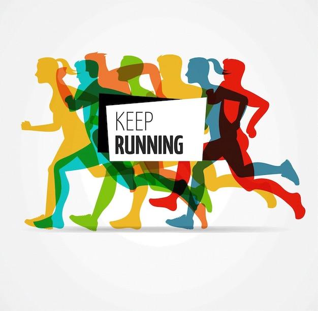 Шаблон плаката бегового марафона