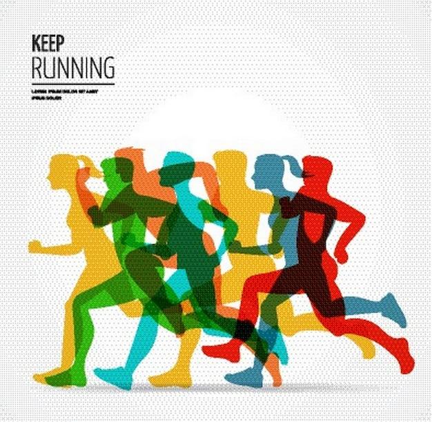 ランニングマラソンポスターテンプレート