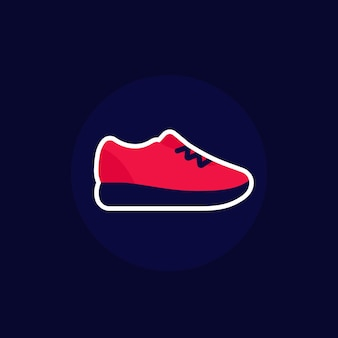 Значок кроссовки, кроссовки или кроссовки
