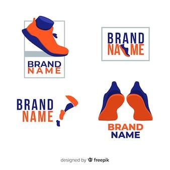 Running shoe logos