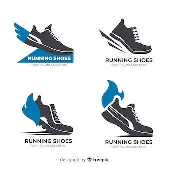 Running shoes logo collection