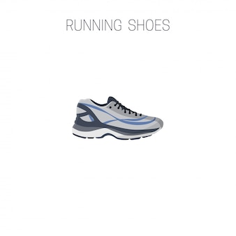 Running shoes. sport icon