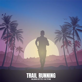 Running silhouettes illustration.