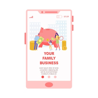 Running small family business through smartphone