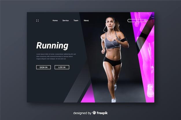 Running sport landing page