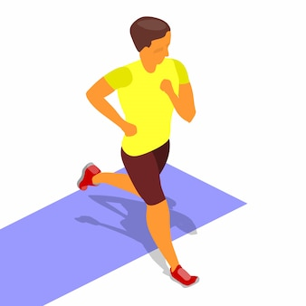 Running sprinter isometric