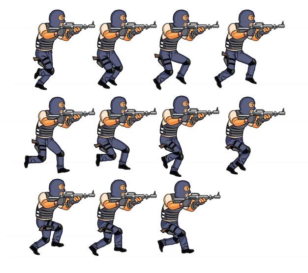 Running swat team sprite