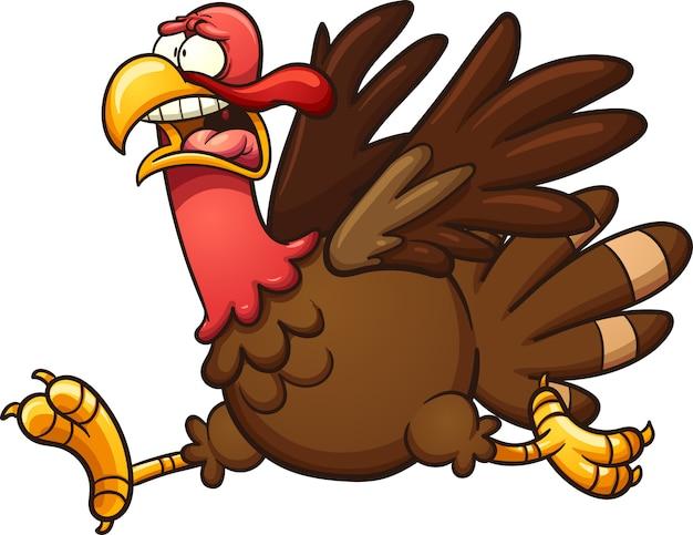 Running turkey