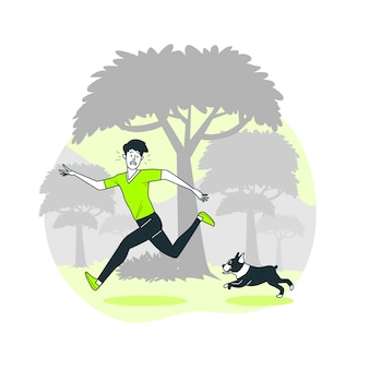 Running wild concept illustration