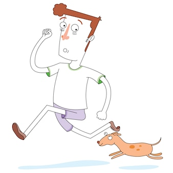 Running with lovely dog