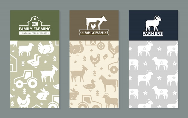 Rural banner background set