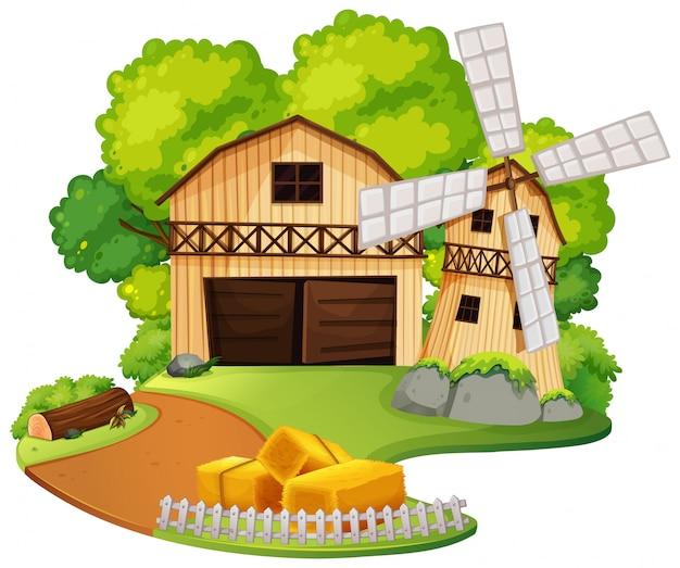A rural farm house