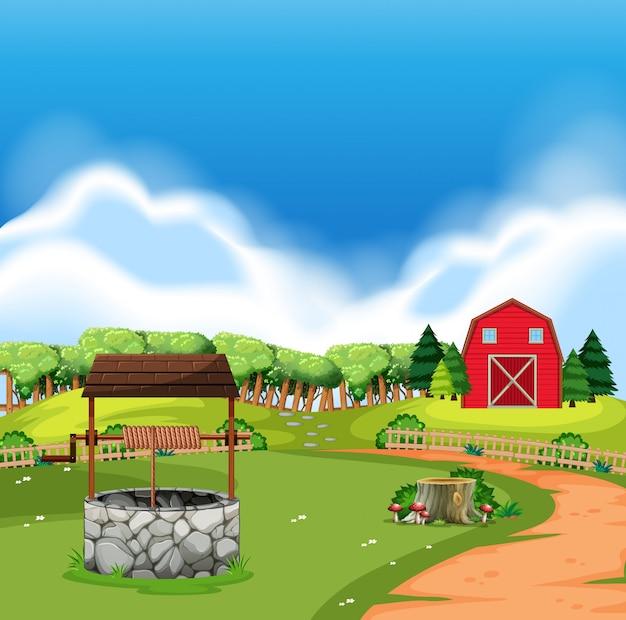 A rural farm land