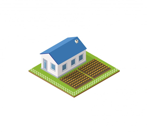 Rural farm in