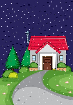Rural home are night