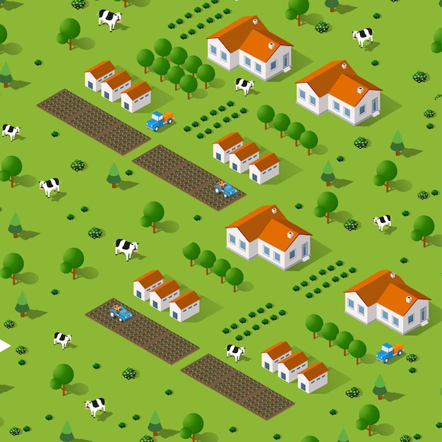Rural isometric natural