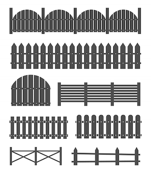 Rural wooden fences, pickets