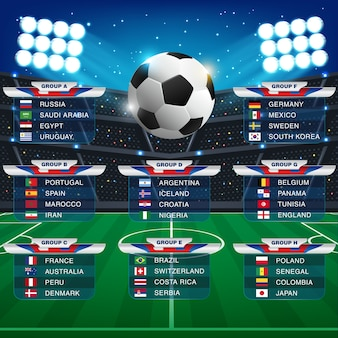 Russia 2018 world cup calendar