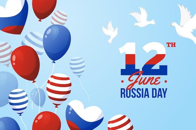 ロシアの日の背景風船デザイン