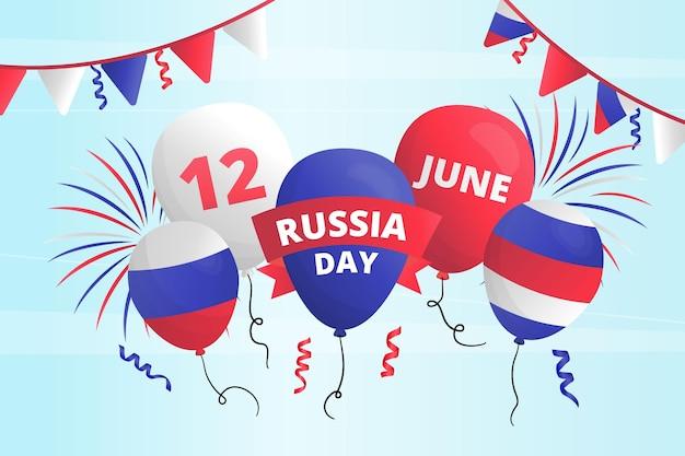 ロシアの日の背景のコンセプト