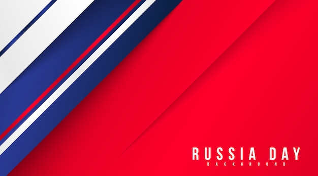 Russia day background illustration