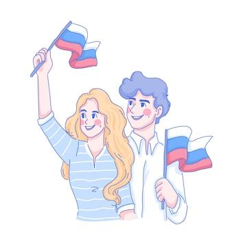 Russia day illustration