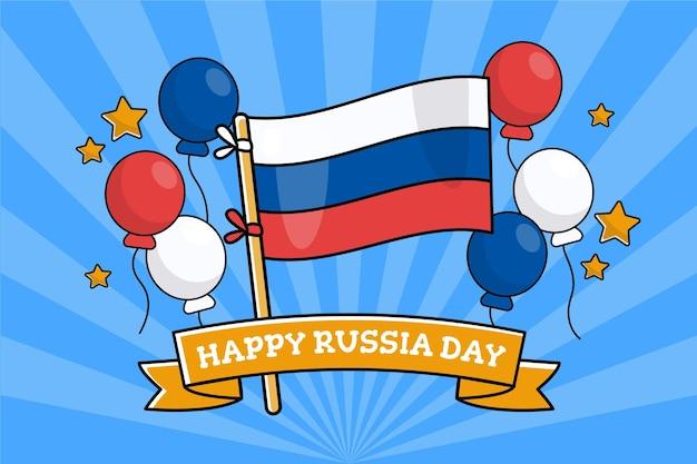 러시아의 날 벽지 디자인