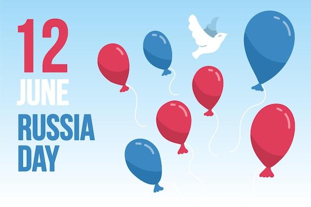 Russia day wallpaper design