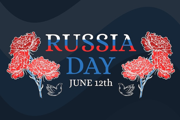 Russia day with roses