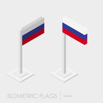Флаг россии 3d изометрический стиль