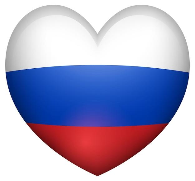 심장 모양의 러시아 국기