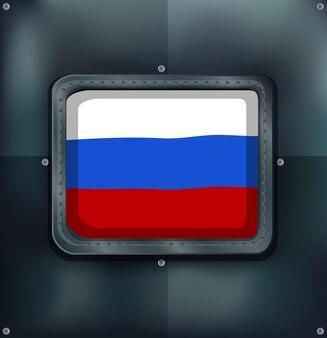 Флаг россии на квадратной рамке