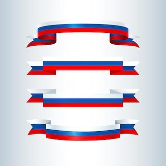 러시아 국기 리본 세트 디자인