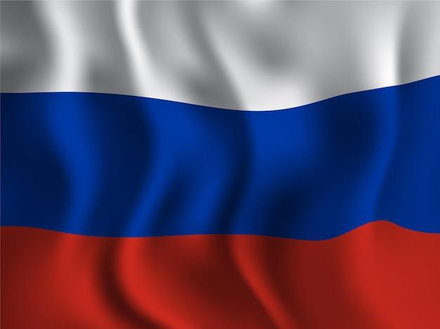 Флаг россии в волнистом стиле на день независимости