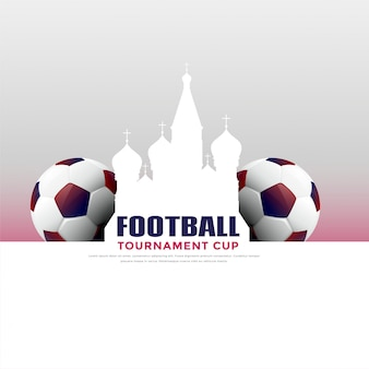 Russia football tournament game background