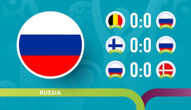 Russia national team schedule matches in the final stage at the 2020 football championship