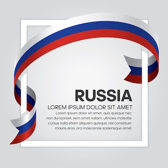 Russia ribbon flag vector illustration on a white background