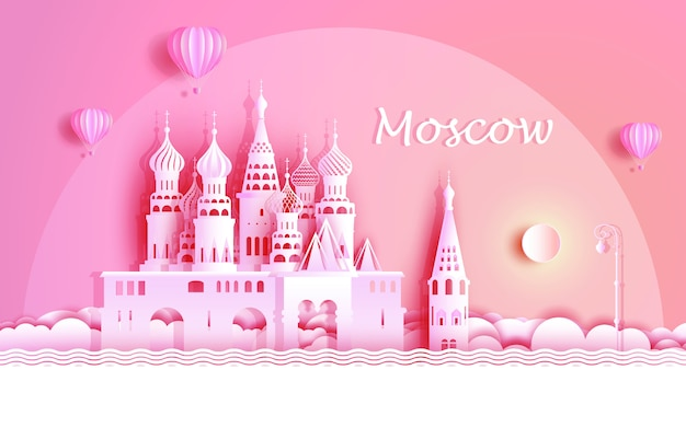 Russia world famous symbol ancient architecture