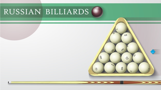 Russian billiards illustration