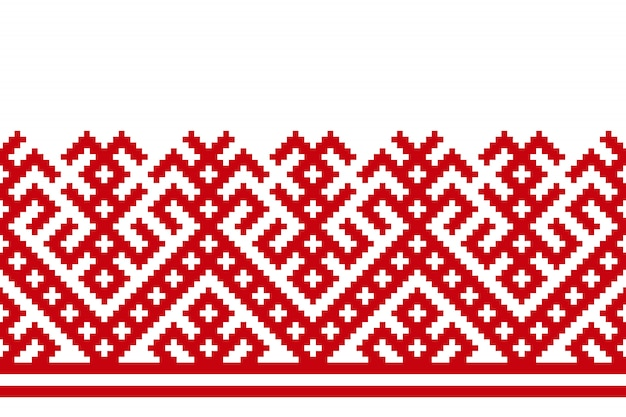 Russian old embroidery and pattern