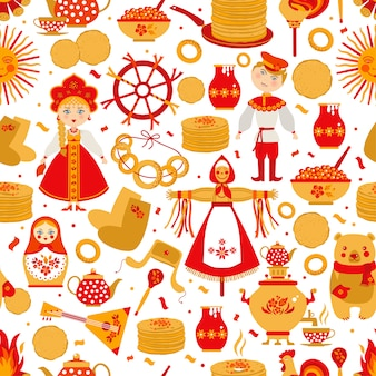 Russian seamless pattern.